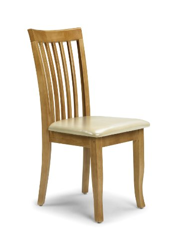 Julian Bowen Newbury Dining Chairs, Maple Colour, Set of 2