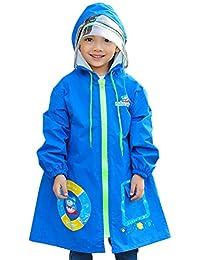 5350801ad490 Zhhlaixing Ragazzi Ragazze Stampa Impermeabile Raincoat Resistente  all'Acqua Zip Up Poncho Giacca da Pioggia