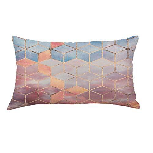 Doingshop Super Weiche Geometrie Lange Kissen Sofa Raum Kissenbezug Abnehmbar Und Waschbar -