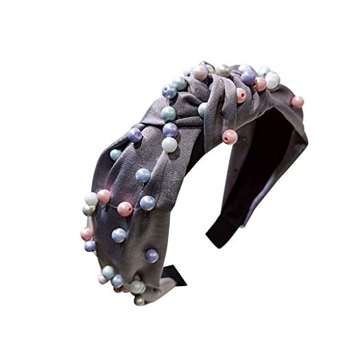 TOPGKD beliebt Womens Pearl Tie Perlen Stirnband Haarband Bow Knot Cross Tie Headwrap HaarbandIns umsatzstark(D) - Paisley Silk Bow Tie
