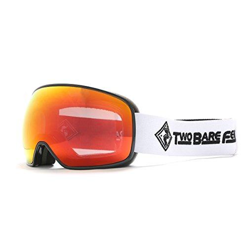Two Bare Feet Summit XS auswechselbarem Objektiv Snow Skibrille Black / Revo Red XS