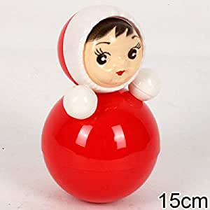 Nevalyashka classique russe soviétique enfant jouet poupée couleur rouge d'origine fait en Russie
