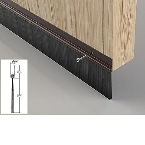 Garage Door Brush Seal - Bottom of Door Draught Excluder, 2.134m x 1 piece - Brown
