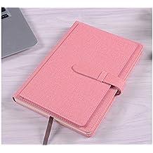 JxucTo Creativo Cuaderno personal de cuero de la PU Nota Cuadernos y diarios escolares Cuadernos de papel (Rosa)