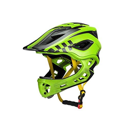RockBros Fahrradhelm Integralhelm Fahrrad Downhill Helm Kinderhelm 54-58cm Abnehmbar Integriert EPS/PC mit 12 Belütungsöffnungen Stoßfest Anti-Schweiß
