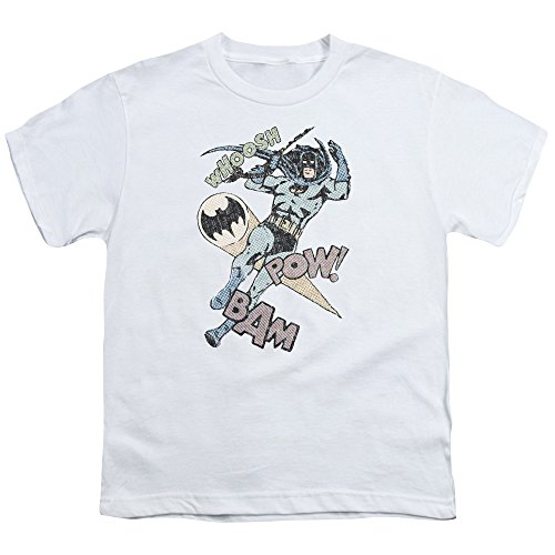 Batman - Jugend Halbton Swing-T-Shirt, X-Large, White -