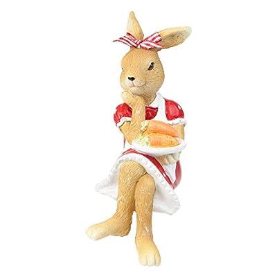 Rosie & Reggie Kantenhocker Oster- Deko Hasen Figuren in Rot und Weiß für Haus oder Garten von Gardens2you bei Du und dein Garten