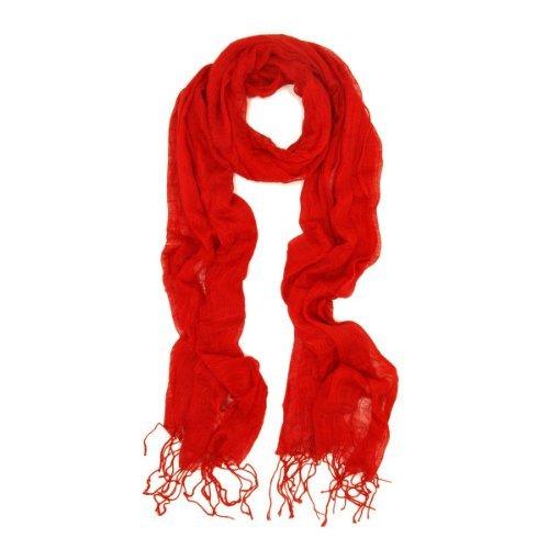 Yinglite, sciarpa da donna in viscosa, pashmina di alta qualità, in vari colori viscose-red taglia unica