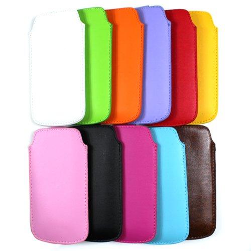 COOVY® Pochette de protection fine avec languette pour iPhone 5 orange Jaune - jaune