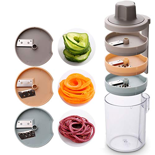 Gemüse spiralisator Spiral schneider einfach zu packen Gemüseschneider, für die Verarbeitung Ihres Obstes und Gemüses,Clear