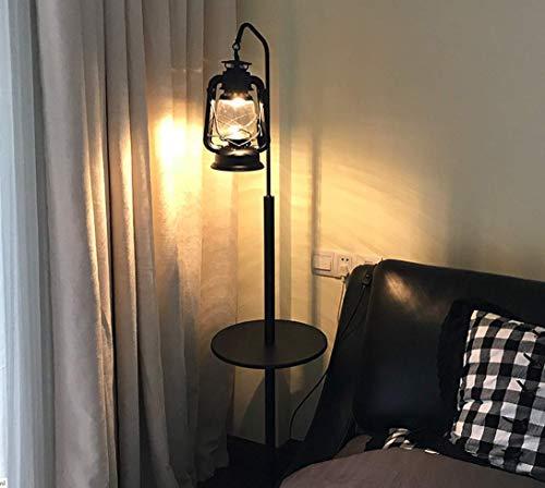 CCLAY Retro Stehlampe Europäisches Wohnzimmer kreative Pferd Lampe Cafe Petroleumlampe American einfaches Schlafzimmer alte Öllampe,wroughtironcoffeetable