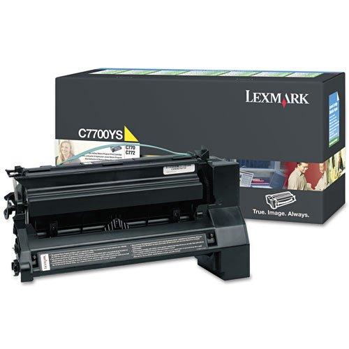lexmarktm-C7700YS Toner, 6000Seiten, gelb-Verkauft als je 1-Erstellen Prints mit einer Reihe von Farbtönen und Schattierungen. - 1 Ea-toner-patrone
