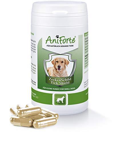 AniForte Zeckenschutz für Hunde (Kleine Hunde bis 10kg) 60 Kapseln - Natürlicher Zeckenschild durch Hautbarriere, Abwehr gegen Zecken und Parasiten, Anti-Zecken Schutz, Zeckenabwehr