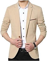 SWISSWELL Herren Slim Fit Sakko Blazer Anzug Jacke EIN-Knopf Casual 2018 Collection Männer Freizeit Anzugssakko