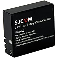 SJCam SJ-BAT-4000-5000-M10 - Batería original SJCAM, recargable y compatible con modelos de las series SJCAM SJ4000, SJCAM SJ5000 y SJCAM M10, color negro