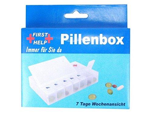 7 Tage Pillendose Erste Hilfe Notfall Tablettenbox Pillenbox Medikamentenbox Dosierer