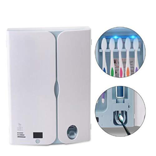 Desinfectante del cepillo de dientes Holder, Antibacterias 2 en 1 luz ultravioleta UV cepillo de dientes...