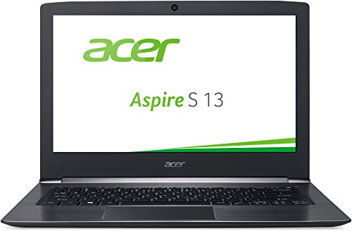 Acer Aspire S 13 (S5-371-56VE) 33,8cm (13,3 Zoll Full HD IPS) Notebook (Intel Core i5-6200U, 8GB RAM, 256GB SSD, Intel HD Graphics 520, Win 10 Home) schwarz