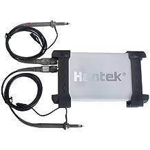 Hantek 6022BE - Osciloscopio digital (USB, 2 GB), color negro y plateado