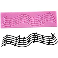 Skyeye Dise/ño Creativo Notas Musicales Molde para Pastel de Chocolate con Recubrimiento de Az/úcar Glaseado Molde para Magdalenas Color Aleatorio