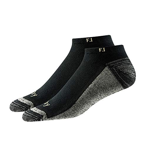 Footjoy Herren ProDry Low Cut 2-Pack Socken, schwarz, Fits Shoe Size 7-12 - Low Cut-2 Pack-socken