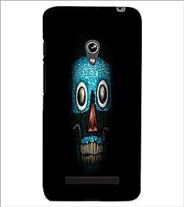 PrintDhaba Art Skull D-1265 Back Case Cover for ASUS ZENFONE 5 A501CG (Multi-Coloured)