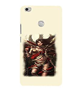 PrintVisa Hot & Sexy Angel Girl 3D Hard Polycarbonate Designer Back Case Cover for Xiaomi Max