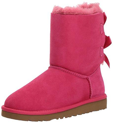 UGG UGG K Bailey Bow, Unisex-Kinder Halbschaft Schlupfstiefel, Pink (CERISE), 32 EU (1 Kinder UK) (Uggs Mädchen Größe 1)