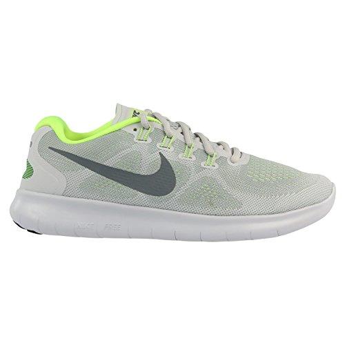 Nike Damen Wmns Free Rn 2017 Laufschuhe Grau (Wolf Grey/Dark Grey/Neon Gree/White)