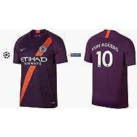 Manchester City F.C. Maillot pour Homme 2018-2019 Third UCL - Kun Aguero 10 1981d709c1a