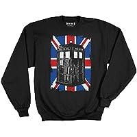 Doctor Who Union Jack Fleece Pullover Sweatshirt