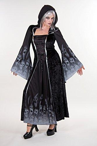 Vergessene Seelen Kapuzen Kleid Damen Kostüm zu Halloween Dämonin (Vergessene Seelen Kostüme)