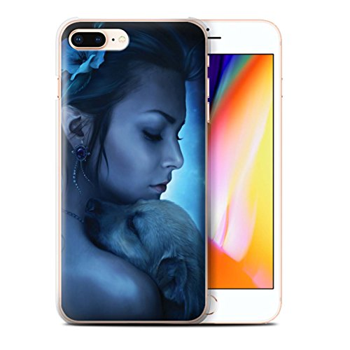Officiel Elena Dudina Coque / Etui pour Apple iPhone 8 Plus / Loups Blancs Design / Les Animaux Collection Le Calin/Chiot/Chien