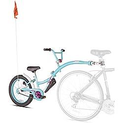 Weeride Co-Pilot XT Bicicleta Tamden Remolque Para Niños, Azul/Rosa