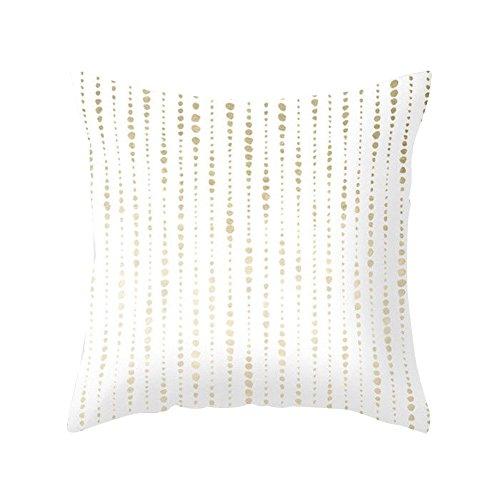 Pineapple Leaf Gelb Kissen Fall Sofa Auto Taille Werfen Kissenbezug Home Decor, Polyester, siehe abbildung, 21 Gold Polka Dot