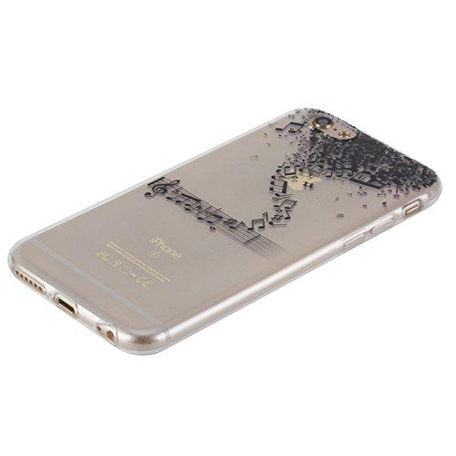 Super Sveglio Liscio Molle Gel Caso per Apple iPhone 6/6s 4.7, CLTPY Gradiente di Colore Vintage Sunflower Totem Stile Cristallo Ultra Slim Fine Anti Scivolo Protezione Bumper Case per iPhone 6,iPhon Nota