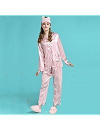 Victoria secreta el mismo párrafo Pijamas de seda de hielo de primavera y otoño de manga