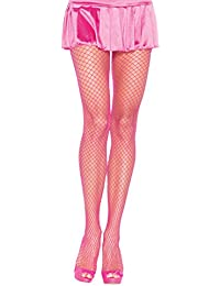 Leg Avenue Women's Fishnet Pantyhose, One Size, Neon Pink