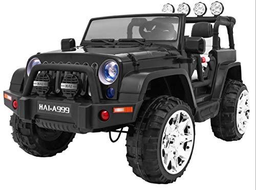 BSD Kinderauto Elektroauto Kinderfahrzeug Spielzeug Elektrofahrzeuge - Master 4x4 2-Sitzer - Schwarz*