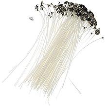Bingpong 100 unids 20cm Bajo humo No tóxico Núcleo de algodón natural Mecha de vela pre
