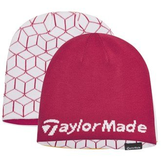 2015-ladies-taylormade-reversible-thermal-golf-beanie-double-knitted-womens-hat-pink-white
