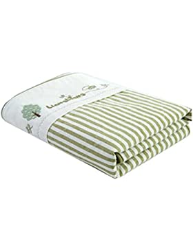 [60 * 80cm] Oso Lindo Impermeable Almohadillas Reutilizables Baby Crib Sheets, E