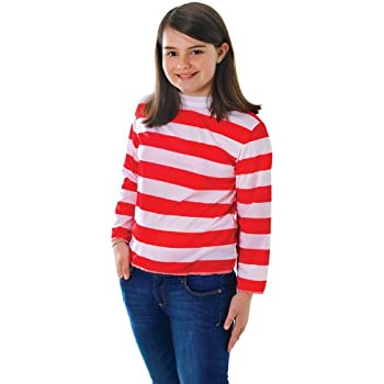 Childrens Red u0026 White Striped Top Wheres Wally Fancy Dress Costume 11-13 Yrs  sc 1 st  Amazon UK & Childrens Red u0026 White Striped Top Wheres Wally Fancy Dress Costume ...
