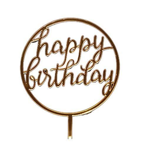 LafyHo Round-Kuchen-Deckel Hochzeit Geburtstag-Party-Geschenke Dessert Insert-Stick Kinder Alles Gute zum Geburtstag Dekorative Topper