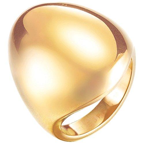 Esprit Fashion Damen-Ring ES-PROMINENT GOLD Edelstahl rhodiniert Gr. 57 (18.1) - ESRG12810B180