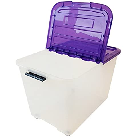 Iris 101.397,0 Set de 3 cajas con tiendas y ruedas, 60 L, Sistema de Orden, la cama, apilables, caja de plástico, TBRH-60,