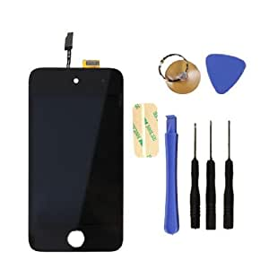 iPhone 4G Black Digitizer LCD Retina Display Full Front Screen replacement With Free tools and Video tutorial