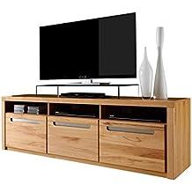 tv moebel eiche massiv geoelt anzeigen trendteam smart living wohnzimmer lowboard fernsehschrank fernsehtisch zino 178 x 59 x 50 cm in