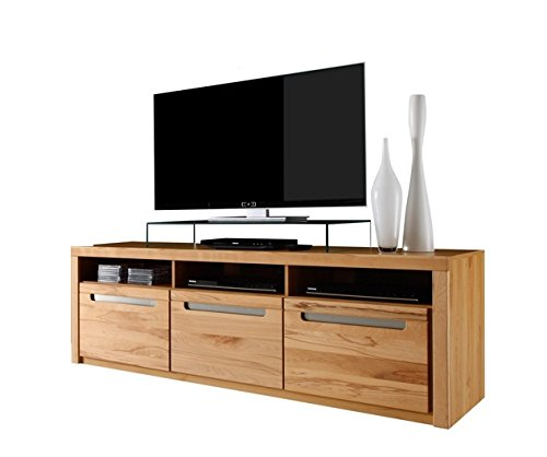 trendteam ZO32065 TV Möbel Lowboard, Korpus Kernbuche Nachbildung und Fronten in Kernbuche massiv
