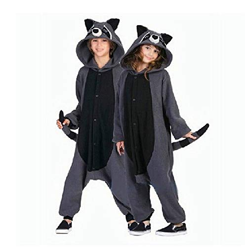 Kostüm Waschbär Erwachsene Unisex Für - DUKUNKUN Erwachsene Kostüme Anime Gray Waschbär Cosplay Pyjamas Unisex Karneval Halloween Maskerade Party Weihnachten,XL